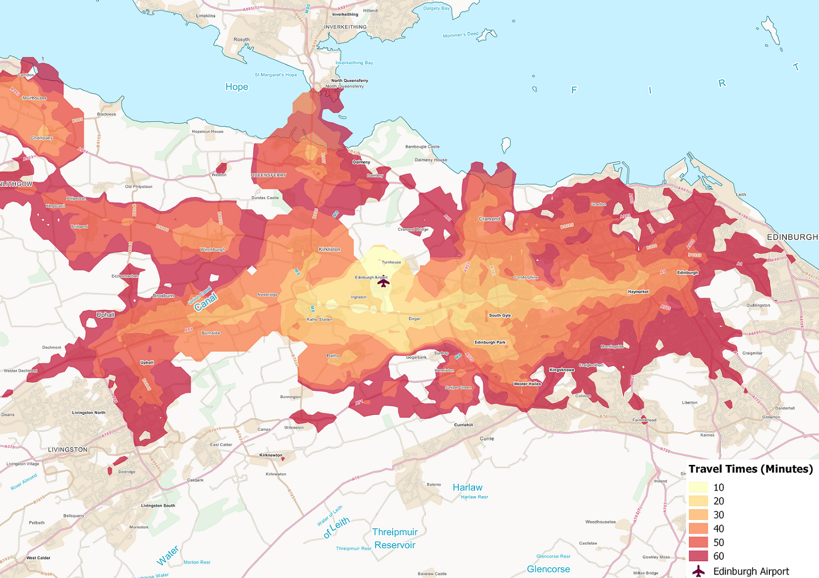 A Study Was Completed Using Basemaps TRACC Software With The July 2014 Release Of Public Transport Data To See Effect Tram On Travel