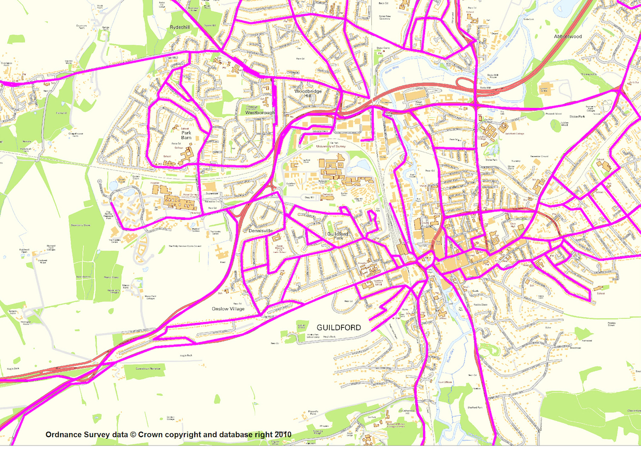 Route Lines Basemap