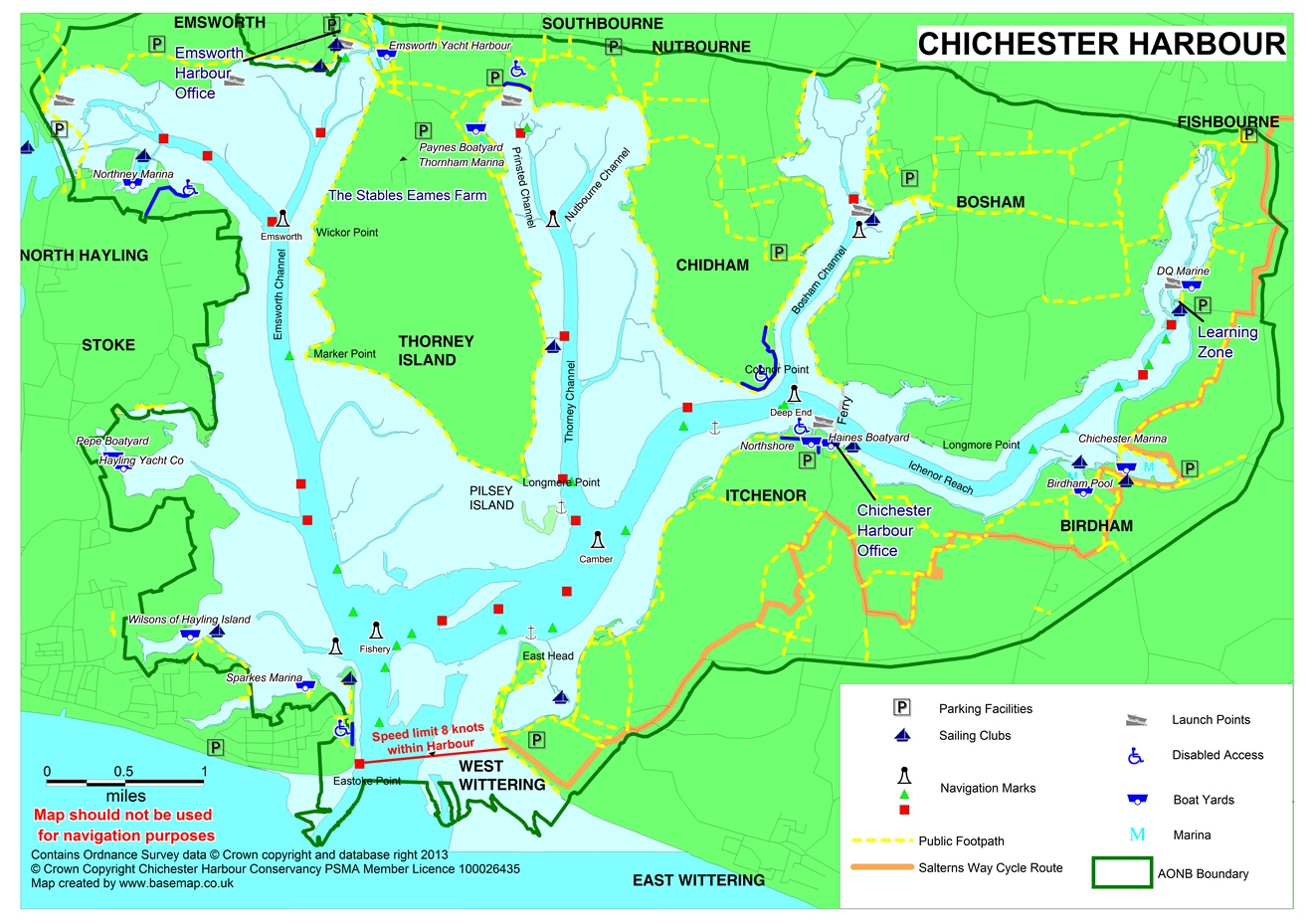 Map Of Chichester Basemap provide new map for Chichester Harbour News and Guide