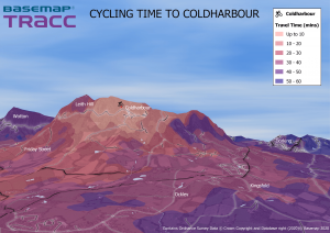 Basemap 3d contour cycling time to coldharbour