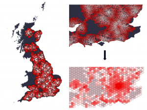 July Visualisation – 3 in 1 from a thematic map