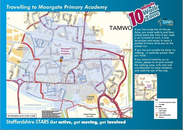 Staffordshire County Council walking map
